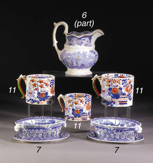 An English pottery shaped oval
