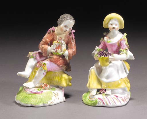 Two Longton Hall figures of Sp