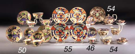 Six English porcelain coffee c