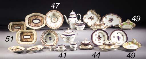 A pair of English porcelain sh