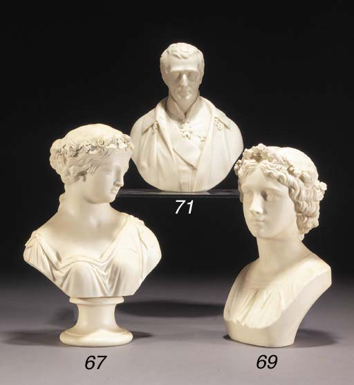 A Copeland parian bust of the