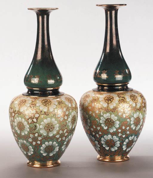 A pair of Royal Doulton stonew