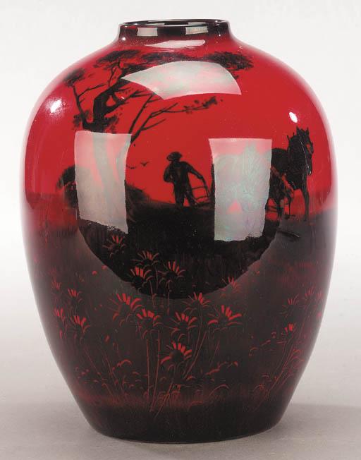 A Royal Doulton Flambé vase