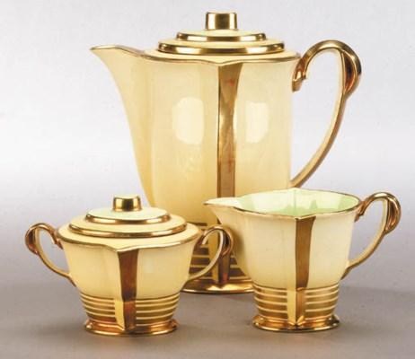 A Carlton Ware coffee set for