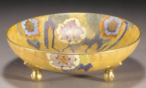 A Carlton Ware footed bowl