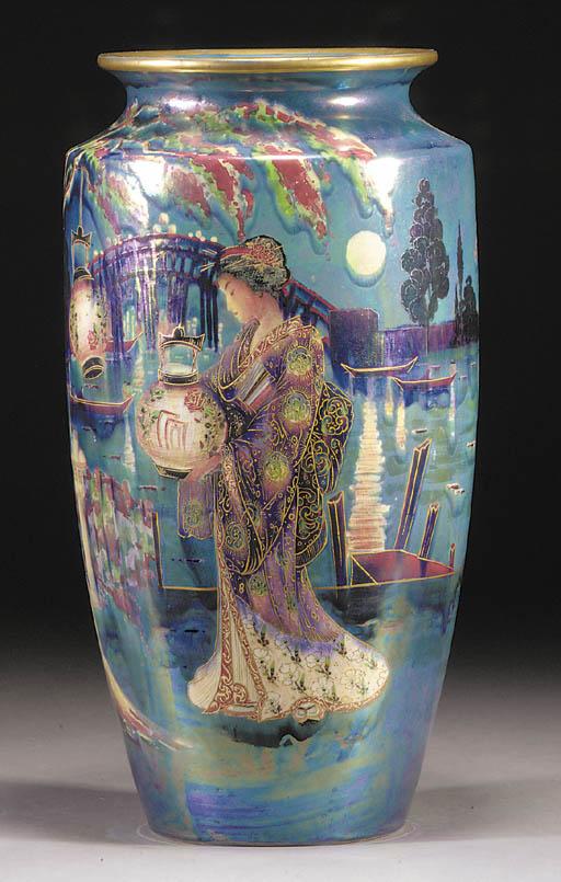 A large Shelley lustre vase