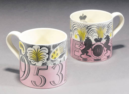 Two Wedgwood mugs