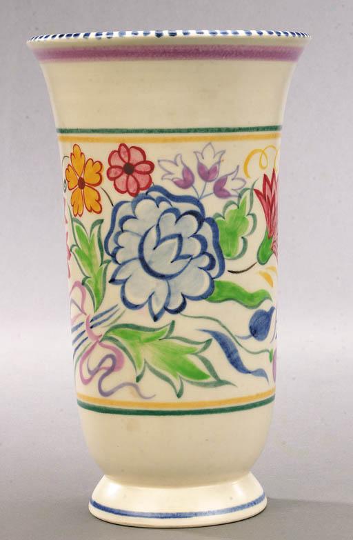 A Poole Pottery foliate vase