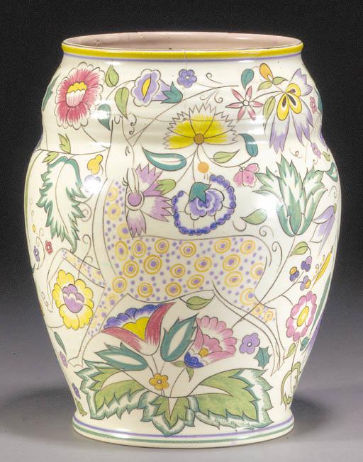 A Poole Pottery gazelle vase