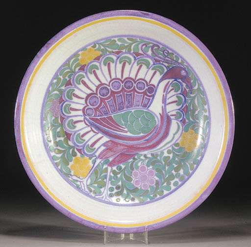 A CSA Poole Pottery charger