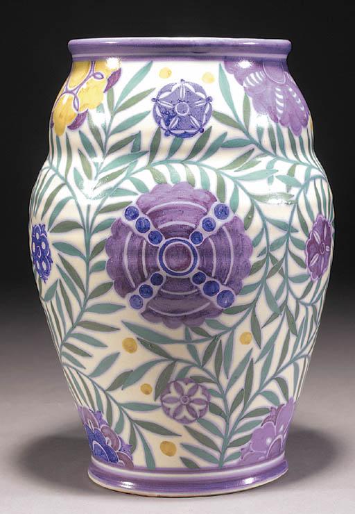 A CSA large Poole Pottery vase