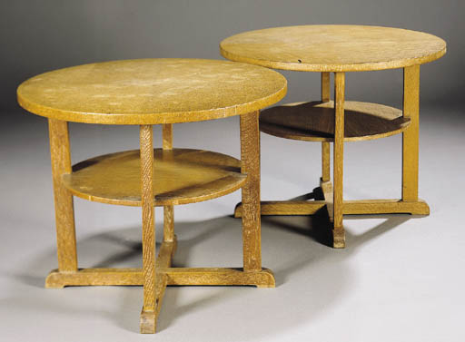 Two Heals oak sofa tables