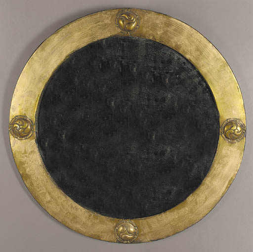 A Liberty & Co brass mirror