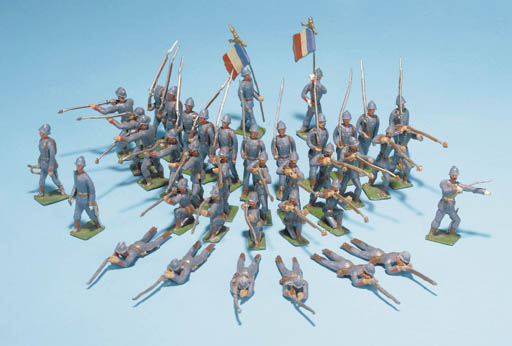 Heyde French Infantry in steel