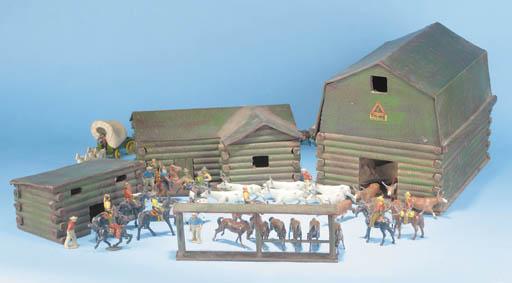 A Tri-ang rare logbuilt Ranch