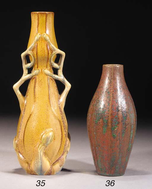 AN EMILE DECOEUR CERAMIC VASE