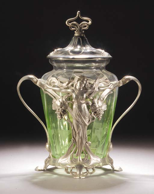 A WMF SILVERED METAL PUNCHBOWL