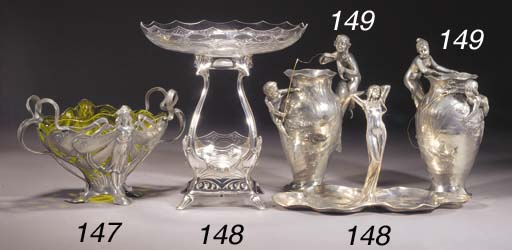A PAIR OF WMF FIGURAL VASES
