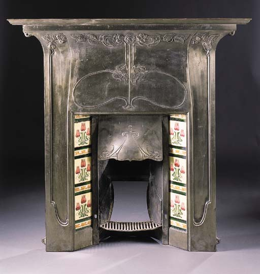 A CAST IRON FIRE SURROUND