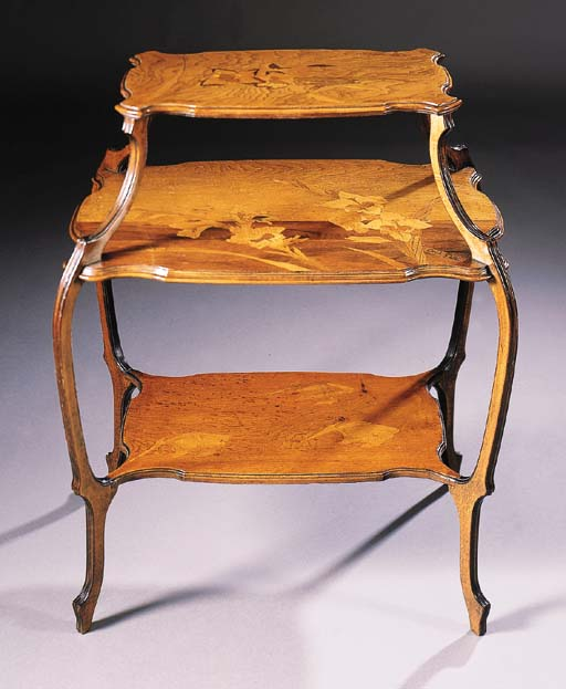 A THREE-TIERED MARQUETRY SIDE