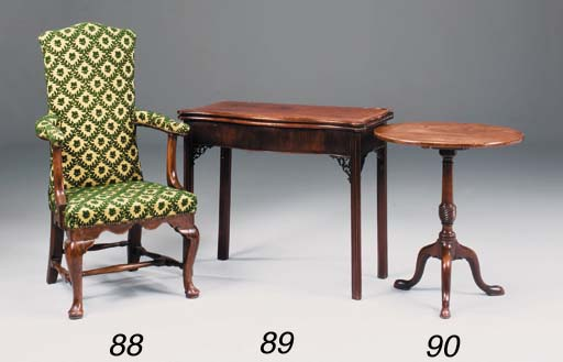 A GEORGE III MAHOGANY OCCASION