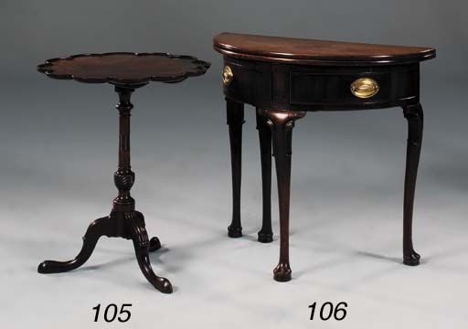 A MAHOGANY OCCASIONAL TABLE OR
