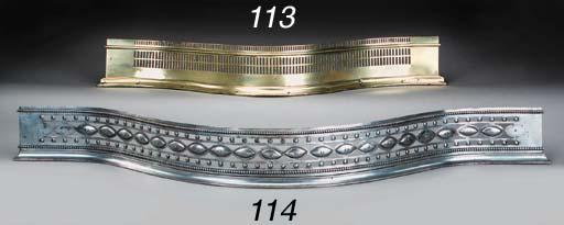 A George III polished brass fe