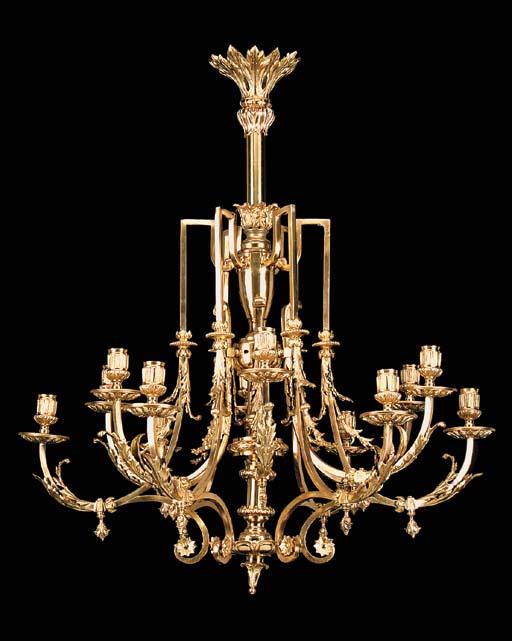 A French gilt bronze twelve li