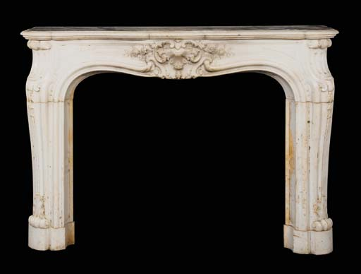 A Louis XV style sculpted whit
