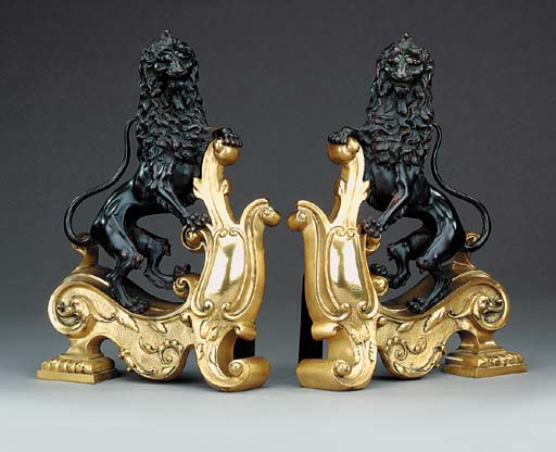 A pair of French gilt and pati