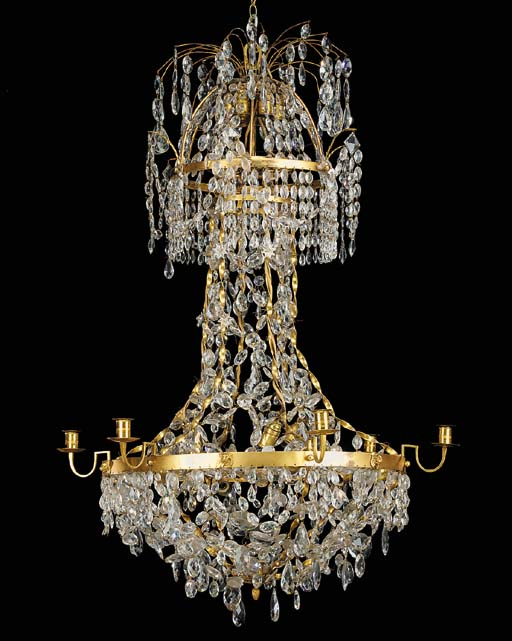 A Continental glass and gilt b