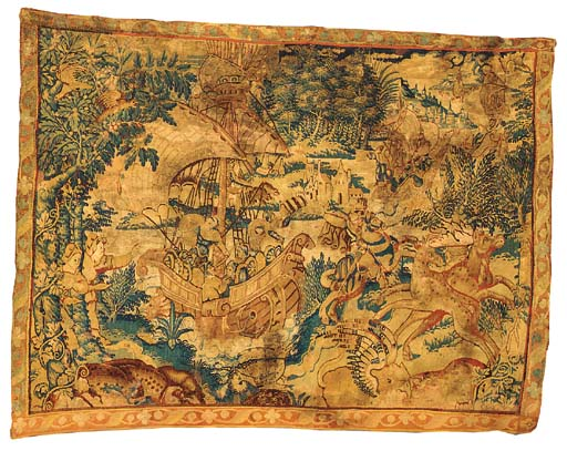 A FLEMISH GAME PARK TAPESTRY P