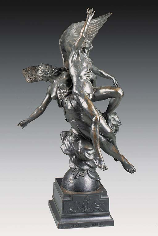 A large French bronze group 'G