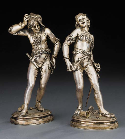 A pair of Continental silvered