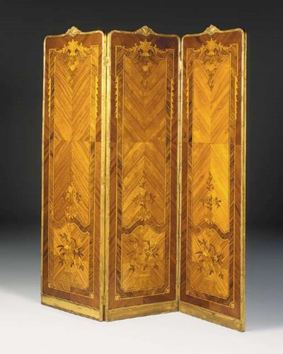 A French giltwood and kingwood