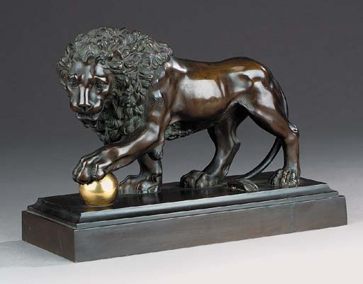 A French bronze model of the M