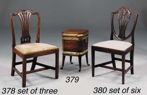 A SET OF THREE GEORGE III MAHO