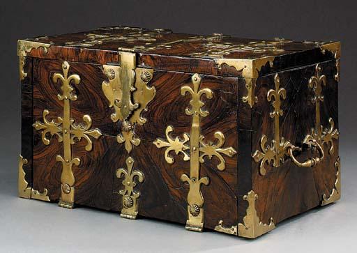 A Louis XIV style brass bound