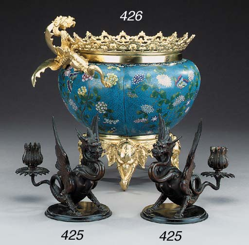 A French gilt bronze mounted c