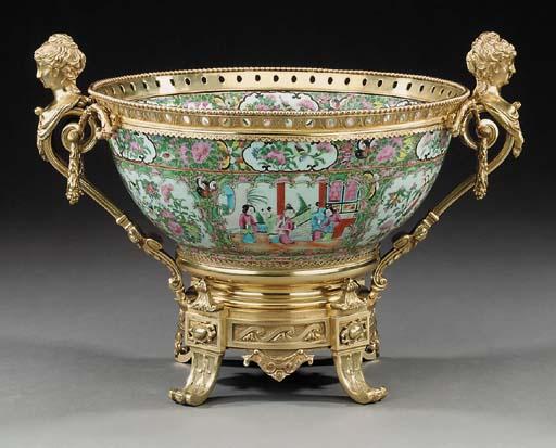 A Cantonese porcelain bowl, la