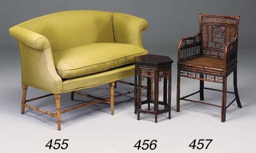 A Regency bamboo armchair