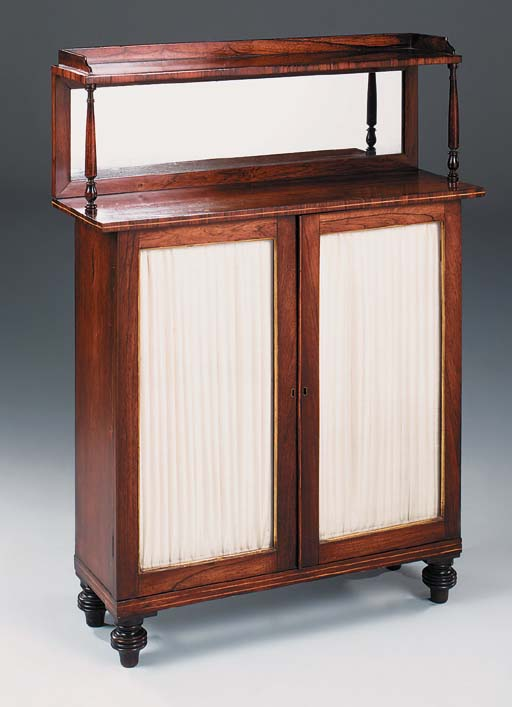 A REGENCY ROSEWOOD AND INLAID