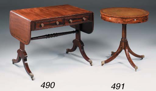 A REGENCY MAHOGANY AND COROMAN