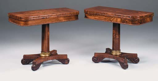A PAIR OF WILLIAM IV CARVED RO