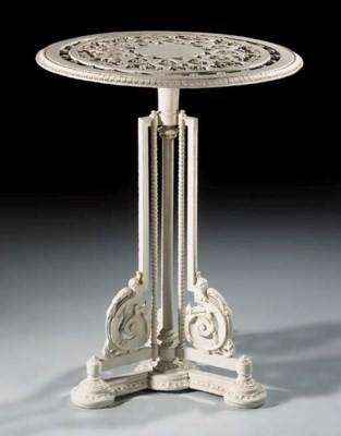 A cast iron table, late 19th c