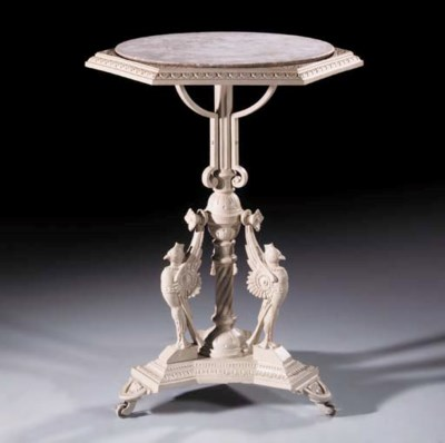 A Scottish cast iron table, la