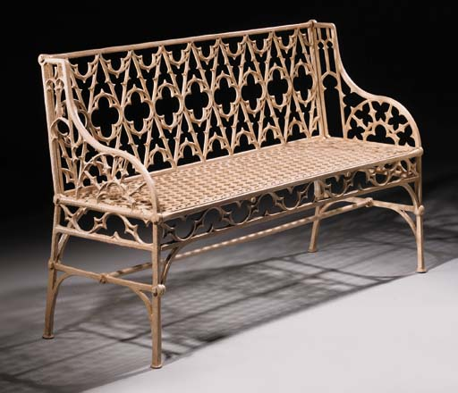 A French cast iron seat, secon