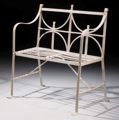 A Regency reeded wrought iron