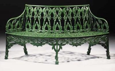 A rare cast iron tree seat, se