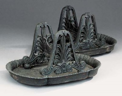 A pair of Regency cast iron bo